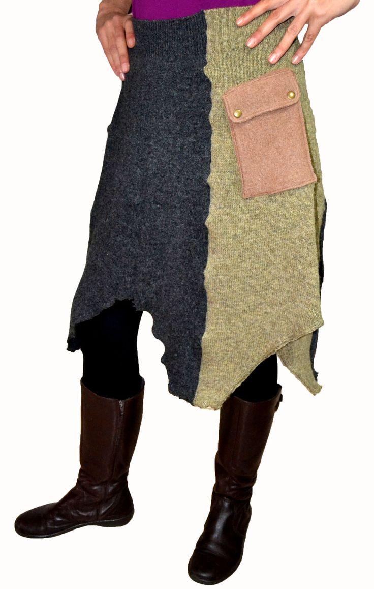Nuevos dise os y modelos de faldas upcycled de jerseys de for Disenos de faldas