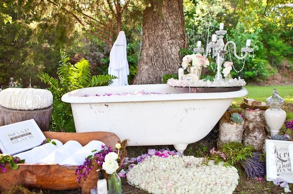 Trying to come up ideas for your bridal shower? What about getting pampered at a spa themed bridal shower?