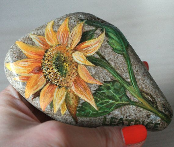 Custom made painted stones with names family name art by SkadiaArt