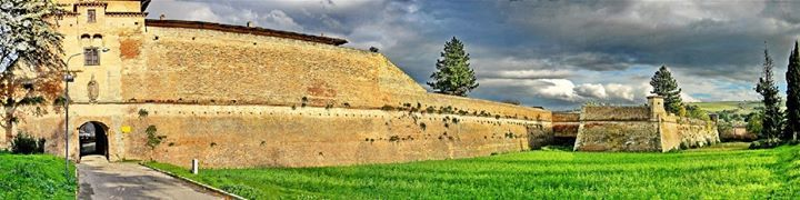 Vista su Porta Fiorentina e sul Bastione di Sant'Andrea - Terra del Sole