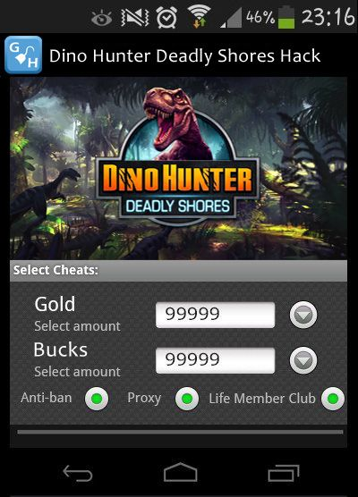 Dino Hunter Deadly Shores Hack Free Cheat Tool Facebook iOS Android No Cost No Task Guaranteed Working  Free install without password Dino Hunter