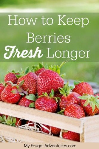 Keep the fresh berries fresh longer.