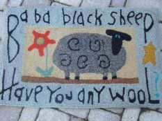 Ewe and Eye Woolens and Such Animal Rug Hooking Designs