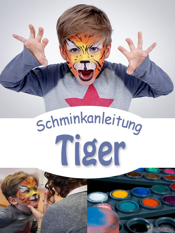 Tiger schminken: Step-by-Step