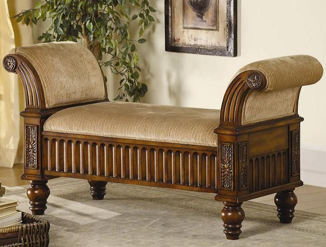 Beautifully Carved Wooden Bench - Here are some beautiful looking benches from Coaster Furniture. Every one of them looks very elegant and will be a welcome addition to your home.