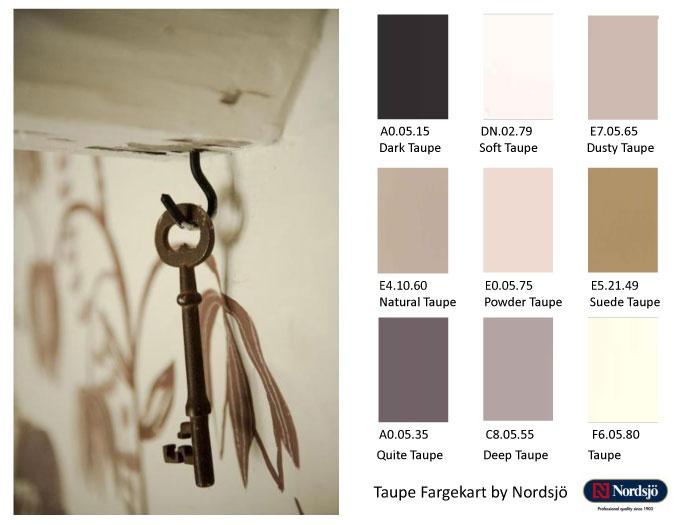 Taupe - den nye fargen for 2013 fra Nordsjo.no