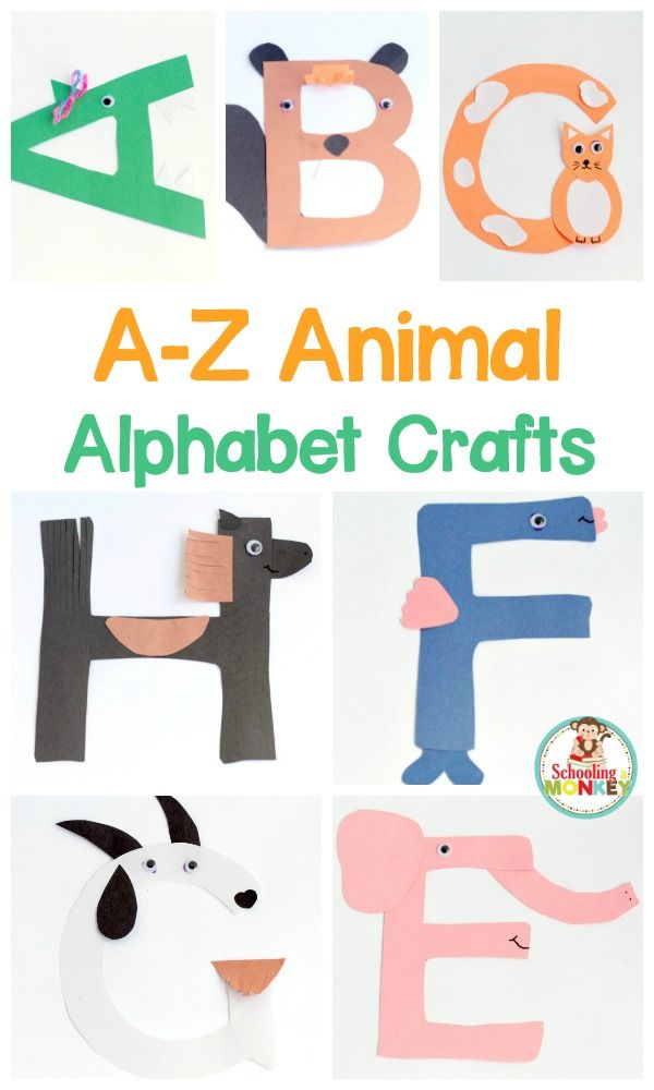 Transform letter cut-outs into adorable animal alphabet crafts! These letter crafts are the perfect addition to letter of the week activities!