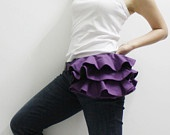 Father's Day Sale - KINIES Ruffled Waist Purse in Orange - Fanny Pack / Hip Bag. $38.00, via Etsy.