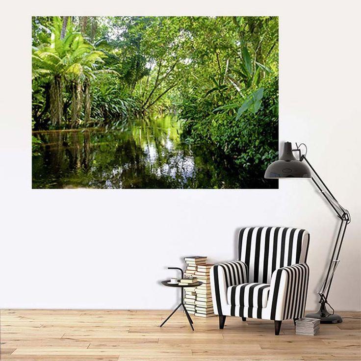 La forêt tropicale dans le salon avec ce tableau grand format, par Scenolia.
