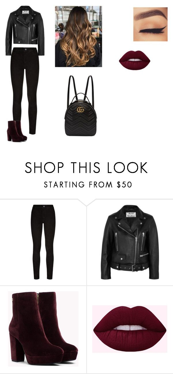 """""""Girl version of him"""" by idatherese04 on Polyvore featuring Paige Denim, Acne Studios and Gucci"""