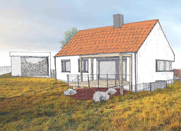 RD Krasensko - projekt domu na okraji male obce na Vyskovsku