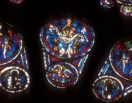 Stained glass, Souls in bosom of Abraham Cathedrale de Chartres
