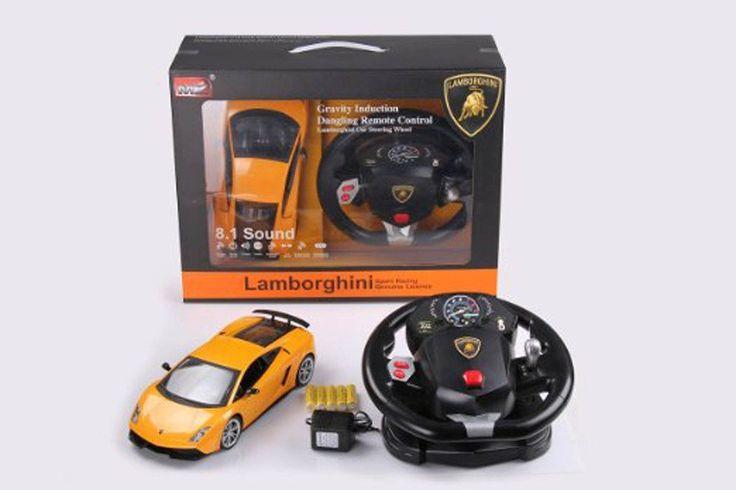 Lamborghini avec volant téléguidé. sold Disponible en boutique ou sur notre catalogue en ligne. Livraison rapide au Québec.  Achetez-le info@laboiteasurprisesdenicolas.ca