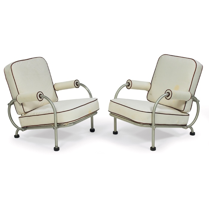 Warren mcarthur lounge chairs 1930s chairs stools for 1930s chaise lounge