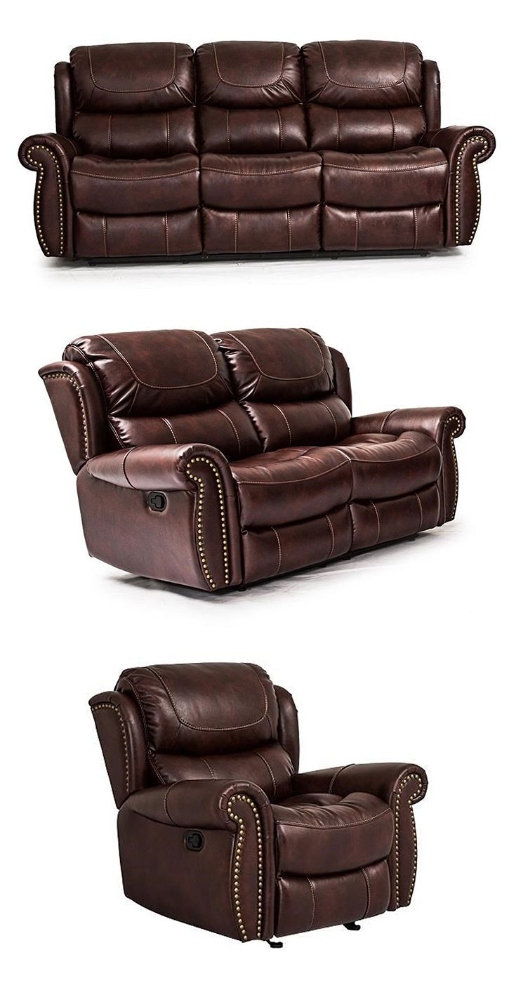 This Reclining Living Room Sofa Will Provide You With Comfort Throughout The Day It Seats Three With Reclining Seats On The Left And Right Side A Traditional