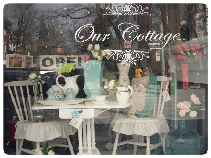 Two matching chairs w/ ruffled seat covers ($169 each)  -- available at Our Cottage 2199 Queen E, Toronto, ON CANADA