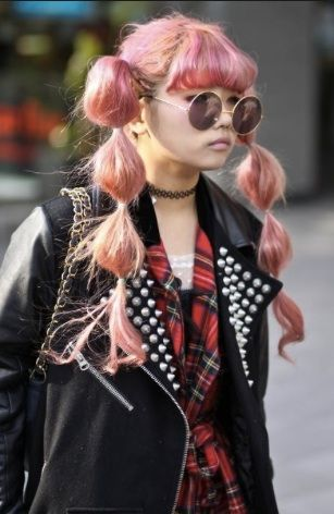 Tokyo girl, cool outfit no cool hair do