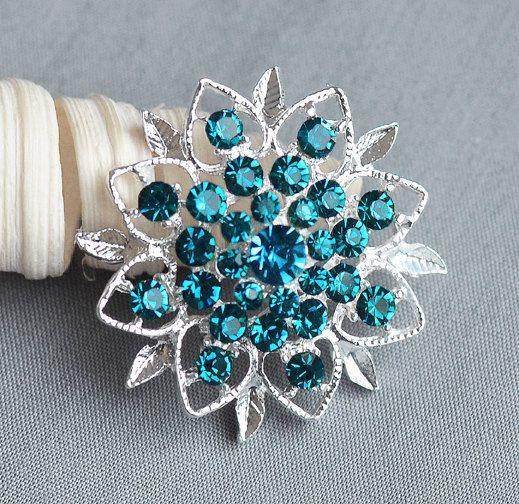 5 strass blu turchese pulsante Crystal di yourperfectgifts su Etsy