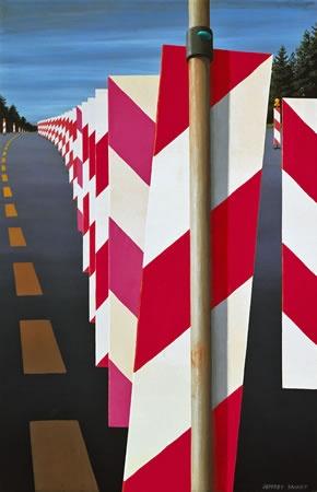 Australian Fine Art Editions - Artist Jeffrey Smart - Autobahn in the Black Forest II