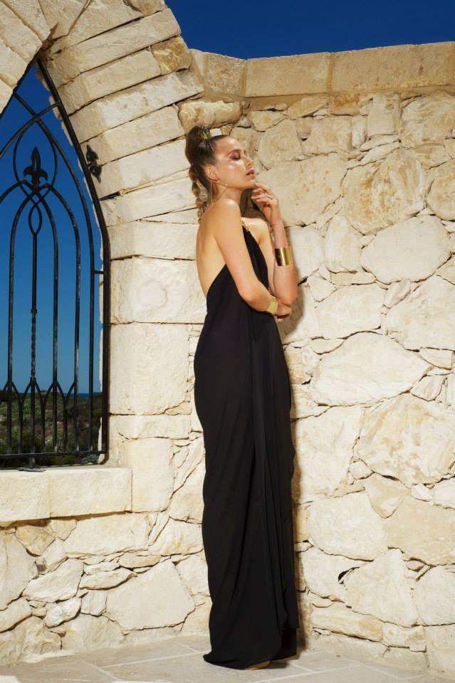 Rhodes dress black
