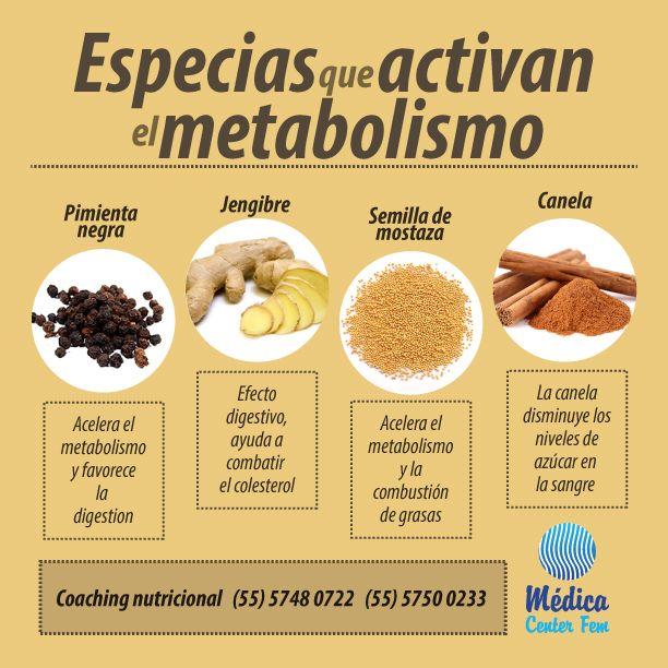 Especias que activan tu metabolismo. #Coaching #MedicaCenterFEM