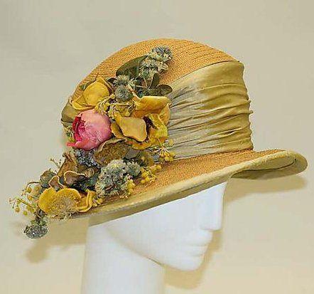 Hollander Hat - c. 1912 - by L.P. Hollander  Co., New York - Straw, silk - The Metropolitan Museum of Art - @~ Mlle