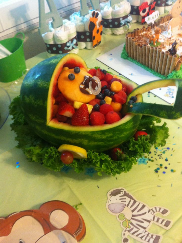 baby boy carriage fruit basket baby showers by rhonda pinterest