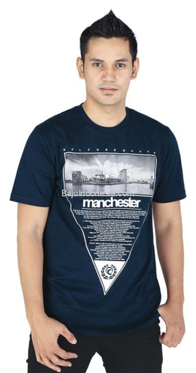 Kaos pria RND 17-51 combed cotton biru navy L-XL. Rp...