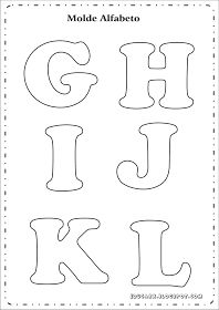 Modelo de letras para cartaz g h i j k l