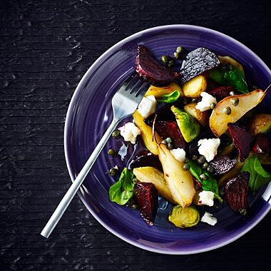 Roasted Vegetable and Goat's Cheese Salad with Caper Vinaigrette recipe - From Lakeland
