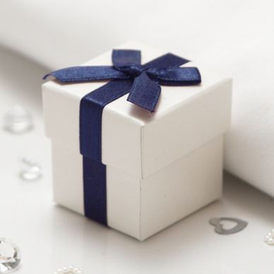 Navy Wedding Favour Boxes - 10 Pack