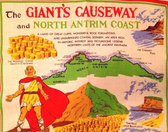 The Giant's Causeway Tea Towel