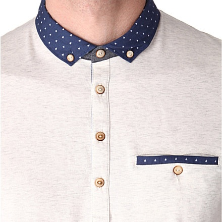TED BAKER Boat-collar polo shirt (Natural
