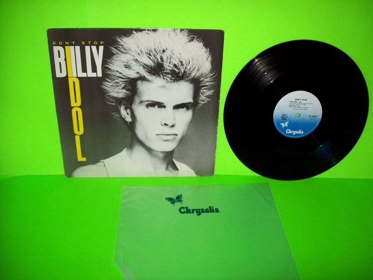 "Billy Idol – Don't Stop Vinyl 12"" EP Record New Wave Rock Punk 1981 Mony Mony #NewWavePopRockPunk1980sRockRoll"