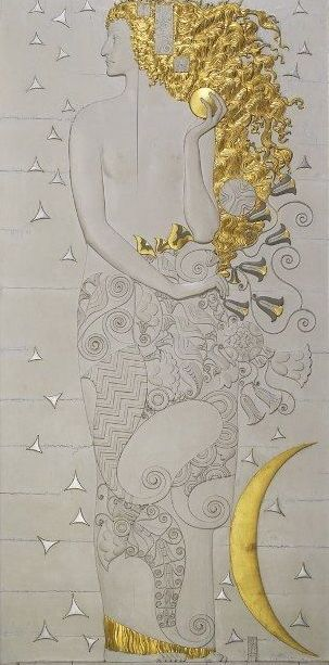 """Corps céleste """"Diana, modèle pour le Palais Stoclet""""(1911):"""
