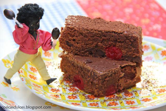 Cosicas dulces...y alguna salada: Brownie fondant con cerezas al marrasquino