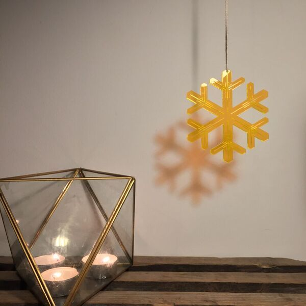 Christmas ornament designed and produced in Copenhagen. 3mm lasercut plexiglass.