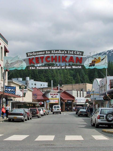 Ketchikan. not only Alaska's first city but also the salmon capital