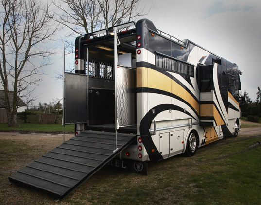 Equine motorcoach = amazing. (Although the gas bill I'm envisioning = not so amazing.)