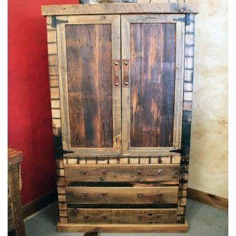 Black Mountain Barnwood Armoire | Western Furniture U0026 Decor