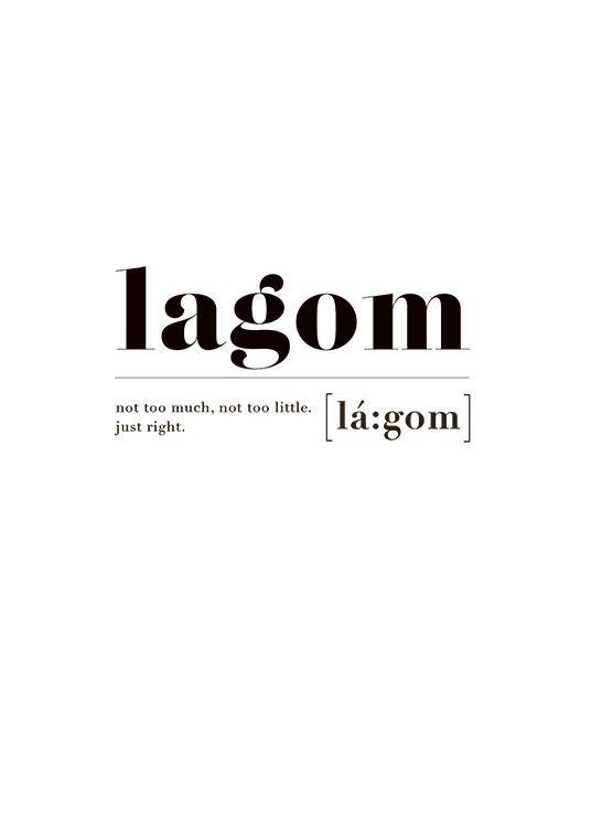 Lagom (13x18) i gruppen Posters / Storlekar / 13x18cm hos Desenio AB (2602-3)
