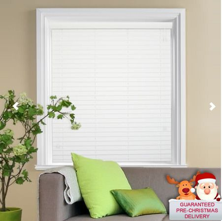 FREE SHIPPING  WHITE WOODEN BLINDS  -- MADE TO MEASURE 5CM & 3.5CM WIDTH SLATS