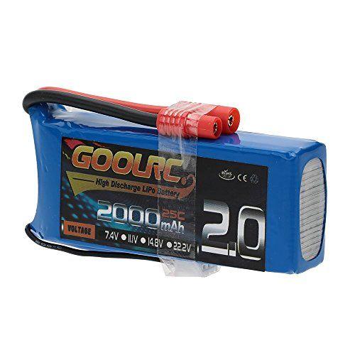 GoolRC Batería Litio 25C 7.4V 2000mAh para Cuadricóptero de Syma X8C X8W X8G RC - http://www.midronepro.com/producto/goolrc-bateria-litio-25c-7-4v-2000mah-para-cuadricoptero-de-syma-x8c-x8w-x8g-rc/
