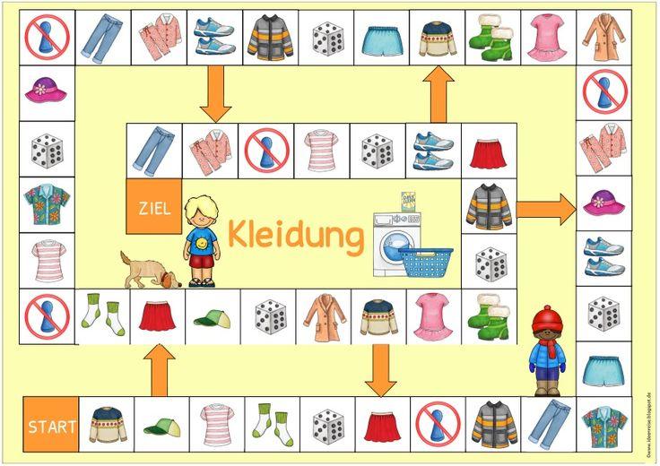 """Ideenreise: Spielfelder """"Kleidung"""" für Englisch und DaZ"""
