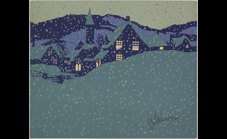 A.J. Casson (1898-1992),  Design for Christmas card   19