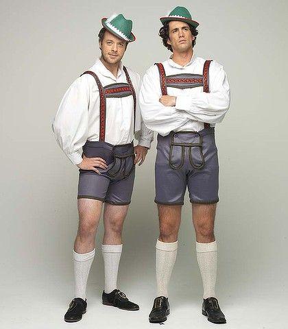 Leder-brosen ... Hamish Blake and Andy Lee.