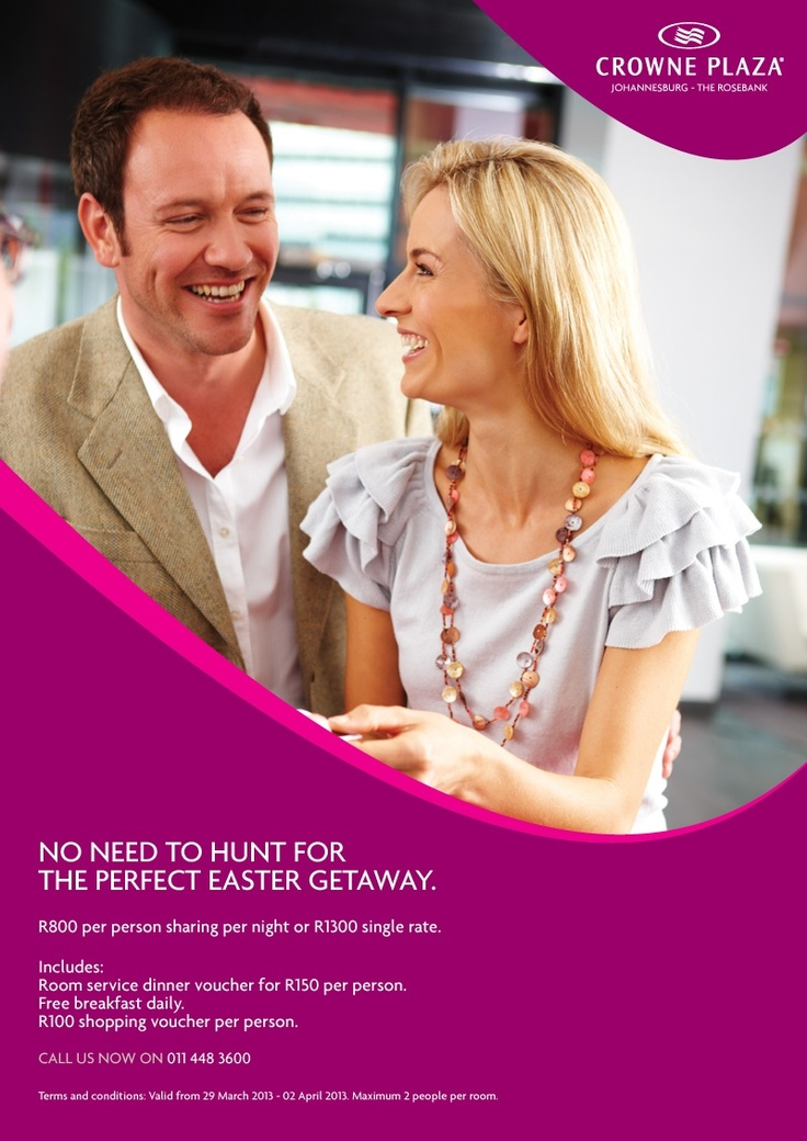 Easter Getaway - it's a four day weekend - why not spoil yourself this Easter?
