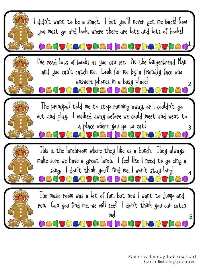 Super cute gingerbread hunt :)