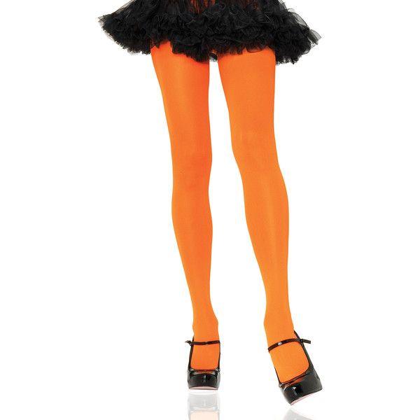 Women's Leg Avenue Wear the Rainbow Nylon Tights (32 DKK) ❤ liked on Polyvore featuring intimates, hosiery, tights, orange, socks & hosiery, nylon tights, leg avenue, nylon pantyhose, rainbow stockings and orange tights