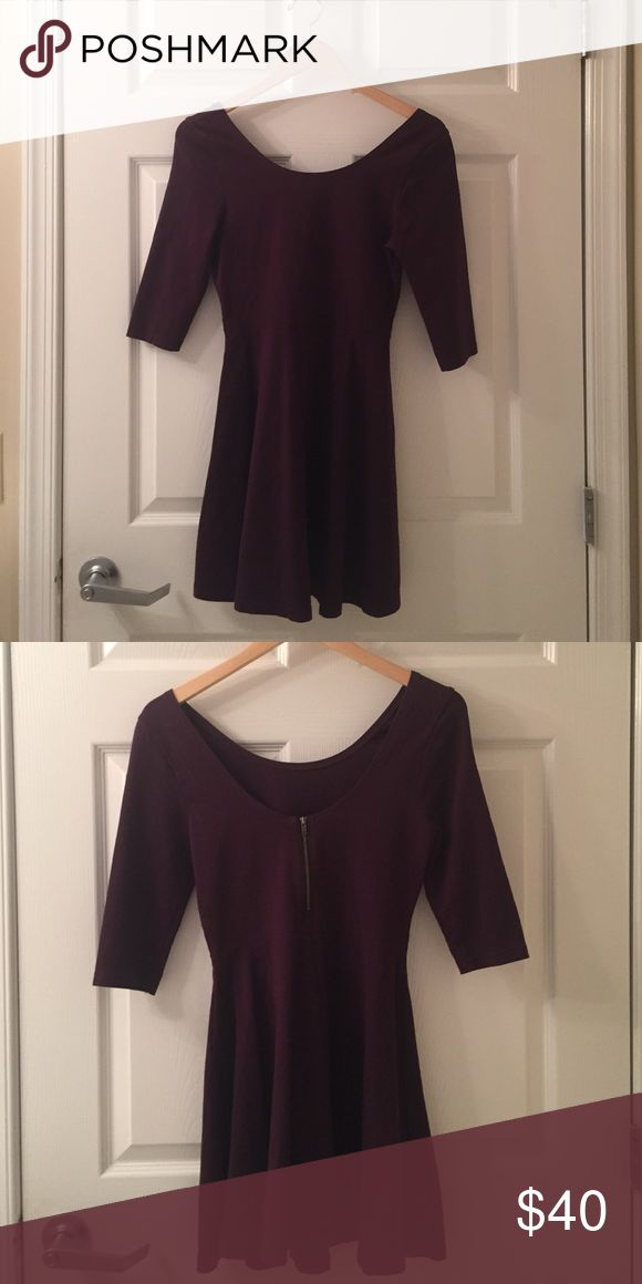 Plum Express dress Size 2, plum colored dress from Express. Only worn twice before. Perfect for a fall event Express Dresses Mini
